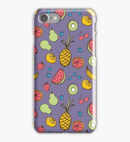 Tropical Blast in Purple iPhone Case/Skin