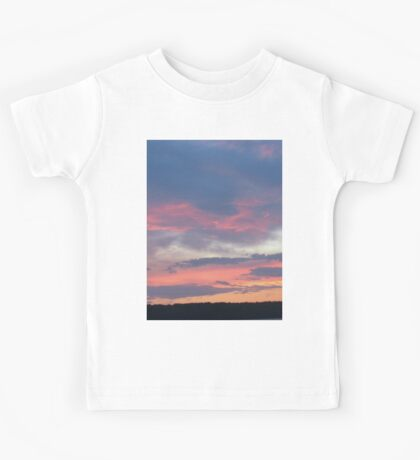 Blue Sunset At The Lake-Available As Art Prints-Mugs,Cases,Duvets,T Shirts,Stickers,etc Kids Tee