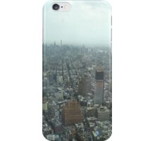 Aerial View of Lower Manhattan, Midtown Manhattan, View from One World Observatory, World Trade Center Observation Deck iPhone Case/Skin