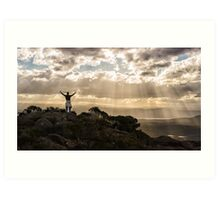 On Top of Mount Amos Art Print