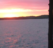 Lake Sunset,-Available As Art Prints-Mugs,Cases,Duvets,T Shirts,Stickers,etc Sticker