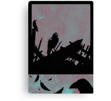 Feathered Friends Singing In The Wreckage Canvas Print