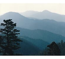 Misty Moutains Photographic Print