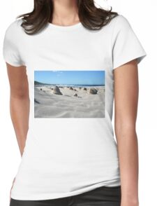Sand sculptures Womens Fitted T-Shirt