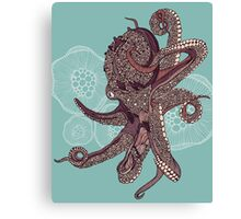 Octopus Bloom Canvas Print