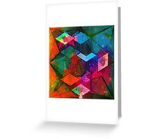 Isometric Tangles Greeting Card