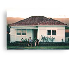 scenes from suburbia Canvas Print