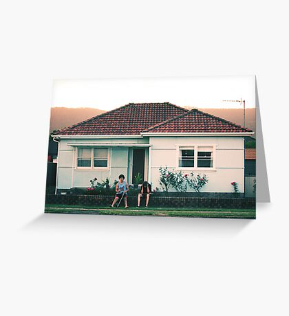 scenes from suburbia Greeting Card