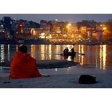 Varanasi Ghats-at Dusk-1 Photographic Print