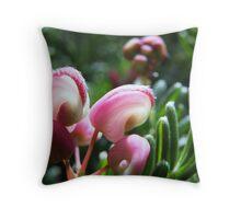 Pink Grevillea Throw Pillow