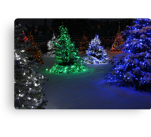 Electric Winter Wonderland Canvas Print