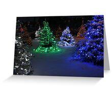 Electric Winter Wonderland Greeting Card