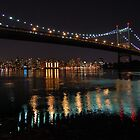 Triboro Bridge, New York -- Night by CG1977