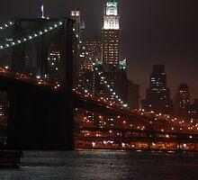 Brooklyn Bridge, New York -- Night by CG1977