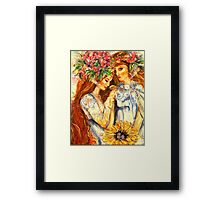 PATCH WORK FAIRY Framed Print
