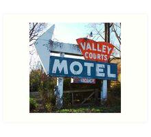 Old Motel Sign Art Print