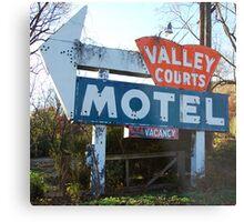 Old Motel Sign Metal Print
