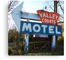 Old Motel Sign Canvas Print