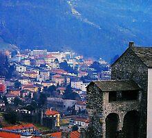Bellinzona. Castelgrande Castle, Wall with Archways. Ticino, Switzerland 2005 by Igor Pozdnyakov