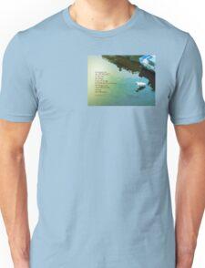 Serenity Prayer Water and White Bird Unisex T-Shirt