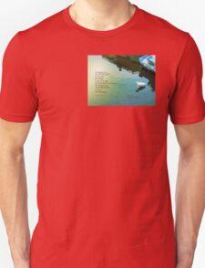 Serenity Prayer Water and White Bird T-Shirt
