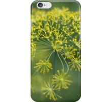 Dill Flower Lace (Anethum graveolens) iPhone Case/Skin