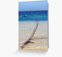 Blue Buoy - Ningaloo Reef, Western Australia Greeting Card