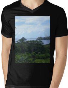 a desolate Palau landscape Mens V-Neck T-Shirt