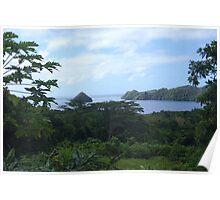 a desolate Palau landscape Poster