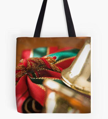 Christmas Ribbon Tote Bag