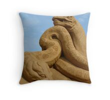 Sand Dinosaurs Throw Pillow