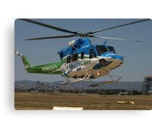 Helicopter Bell 412 flying #1 Canvas Print