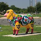 Painted Sheep in San Angelo, Texas by Susan Russell