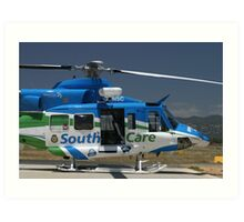 Helicopter Bell 412 #2 Art Print