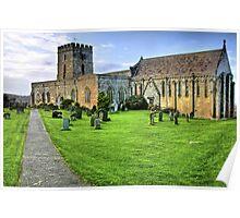 """Bamburgh Village Church"" Poster"