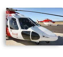 Helicopter Sikorsky S 76A #1 RAFF Canvas Print