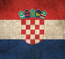 Old and Worn Distressed Vintage Flag of Croatia by Jeff Bartels
