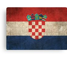Old and Worn Distressed Vintage Flag of Croatia Canvas Print