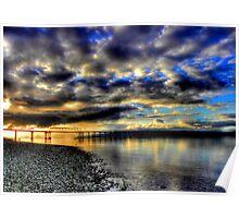 Hood Canal Bridge ~ Port Townsend, WA ~ HDR Series  Poster