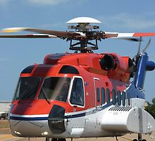 Helicopter Sikorsky S91 taxiing #1 by Mark Hamilton