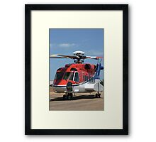 Helicopter Sikorsky S91 taxiing #1 Framed Print