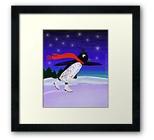 Skating Penguin Framed Print