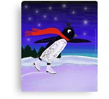 Skating Penguin Canvas Print
