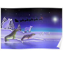 Arctic Christmas Eve Poster