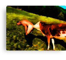 An Old Country Pastime Canvas Print