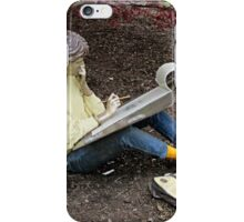 Sketching Under The Red Maple (Close-up) iPhone Case/Skin