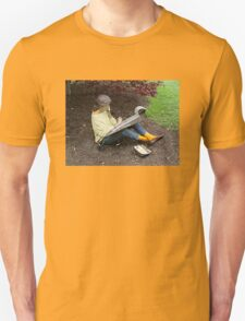 Sketching Under The Red Maple (Close-up) Unisex T-Shirt