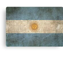 Old and Worn Distressed Vintage Flag of Argentina Canvas Print