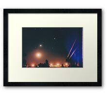 Moon, Venus & helicopter headlight. Framed Print