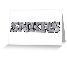 Sneakers Cement Greeting Card